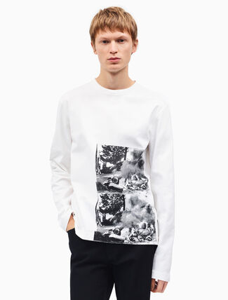 CALVIN KLEIN burning car long sleeve t-shirt