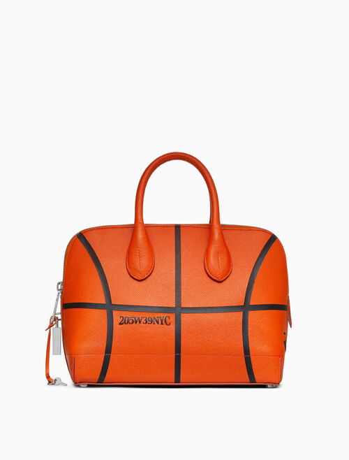 CALVIN KLEIN BASKETBALL SMALL SATCHEL IN EMBOSSED LEATHER