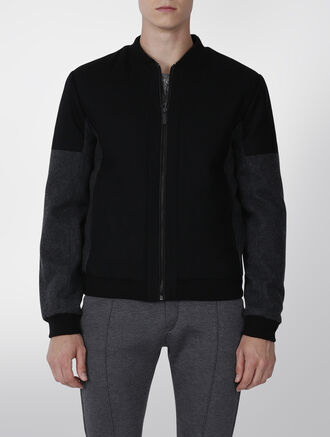 CALVIN KLEIN FABRIC MIX BOMBER DOWN JACKET