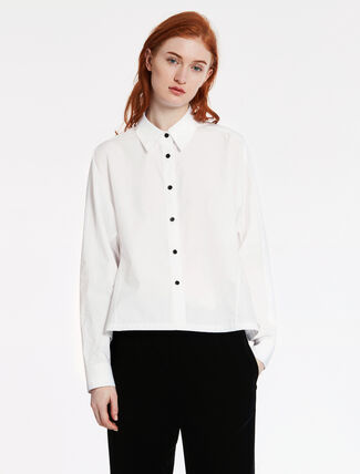 CALVIN KLEIN SOFT DENSE POPLIN EASY TOP