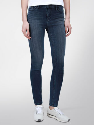 CALVIN KLEIN BLUE CRUSH HIGH RISE SKINNY JEANS