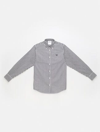 CALVIN KLEIN EST 1978 ICON STRIPED POPLIN SHIRT