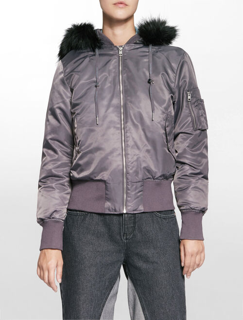 CALVIN KLEIN OLENA LIGHT WEIGHT DOWN BOMBER JACKET