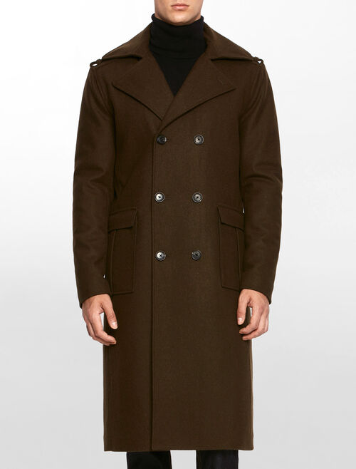 CALVIN KLEIN OHANZ MILITARY COAT