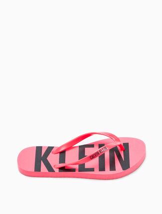 CALVIN KLEIN LOGO FLIP FLOP SANDALS