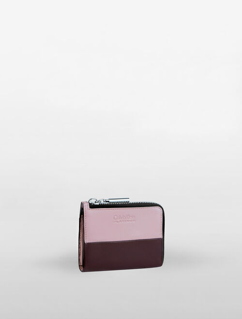 CALVIN KLEIN L-ZIP COLOUR BLOCK WALLET