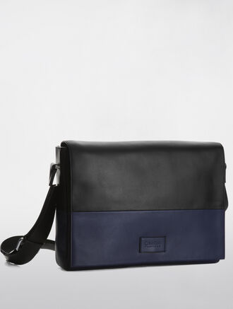 CALVIN KLEIN TWO TONE ENGINEERED BUSINESS CITY MESSENGER BAG