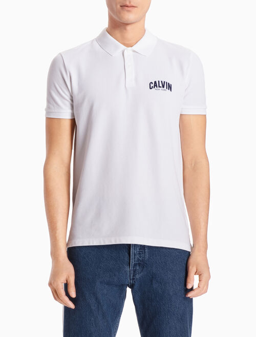 CALVIN KLEIN LOGO POLO SHIRT IN SLIM FIT