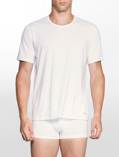 CALVIN KLEIN CK BLACK COTTON Short Sleeves CREW NECK TEE