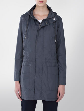 CALVIN KLEIN LIGHT WEIGHT HOODED NYLON JACKET