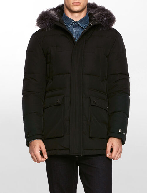 CALVIN KLEIN OMORE HOODED DOWN PARKA