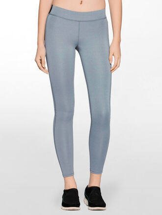 CALVIN KLEIN FULL LENGTH REGULAR RISE LEGGING WITH CLASSIC CK LOGO WAISTBAND