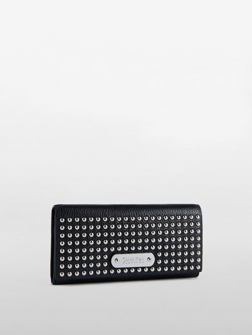 CALVIN KLEIN LONG FLAP WALLET WITH STUDS