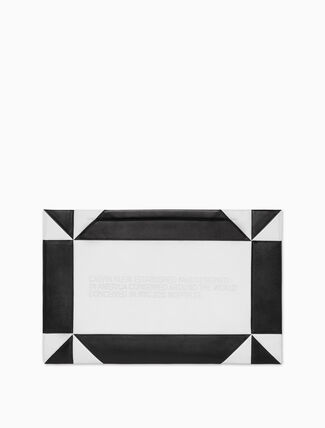 CALVIN KLEIN Oversized Geometric Quilted Clutch In Nappa Leather