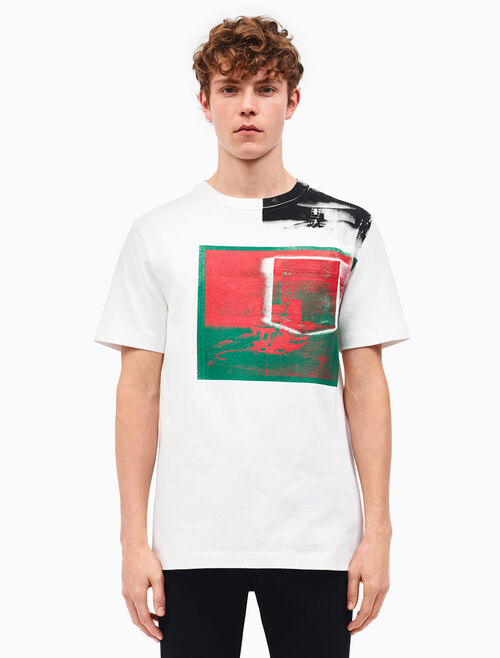 CALVIN KLEIN little electric chair patch pocket t-shirt