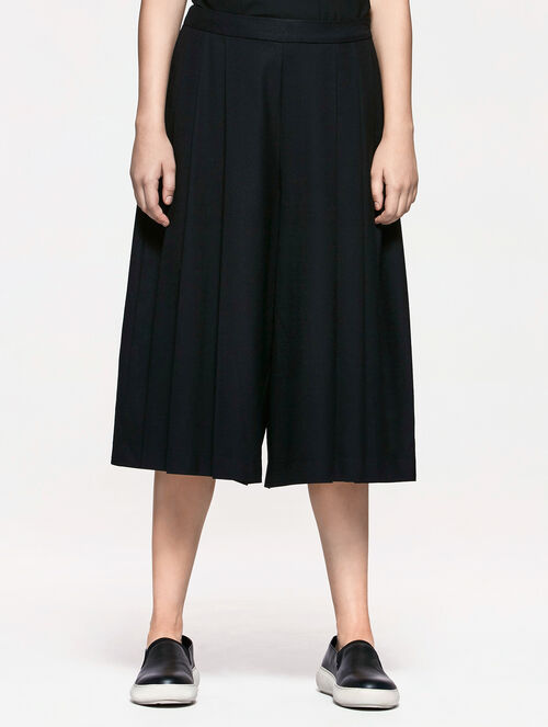 CALVIN KLEIN PLEATED WIDE PANTS