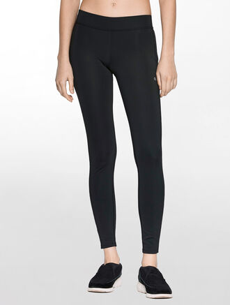 CALVIN KLEIN FULL LENGTH LEGGINGS WITH CLASSIC CK LOGO WAISTBAND