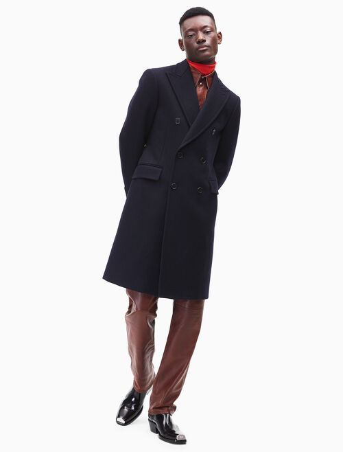 CALVIN KLEIN double-breasted wool overcoat