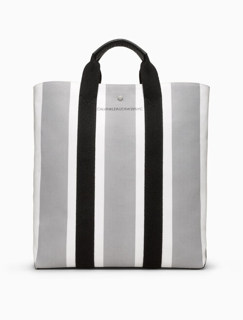 CALVIN KLEIN striped jacquard shopper tote