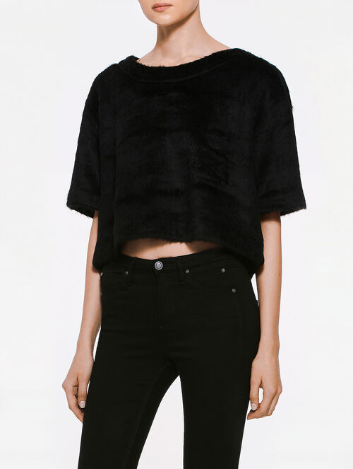 CALVIN KLEIN JOSEPHINE PLUSH CROPPED TOP