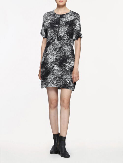 CALVIN KLEIN DORSIANNA ALL OVER PRINT DRESS