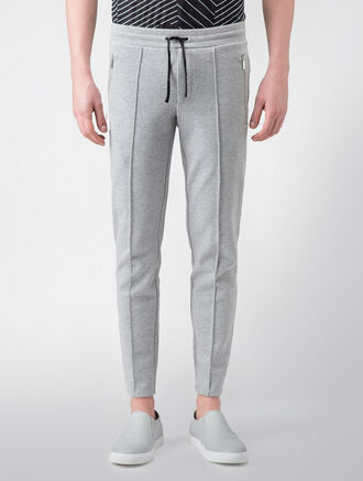 CALVIN KLEIN DOUBLE FACE PIQUE MELANGE PANTS