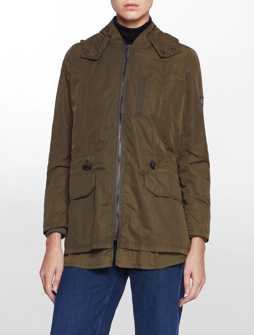 CALVIN KLEIN HOODED LIGHT WEIGHT JACKET