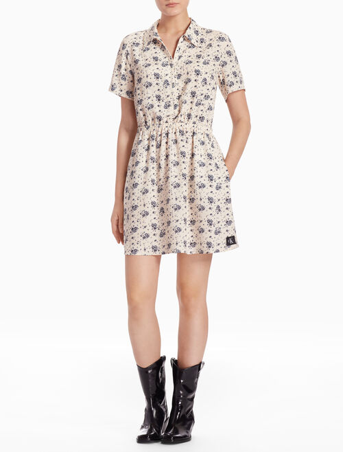 CALVIN KLEIN DILLY SHORT-SLEEVE DRESS
