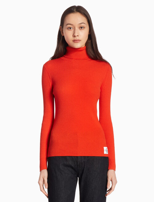 CALVIN KLEIN WOOL BLEND TURTLENECK JUMPER