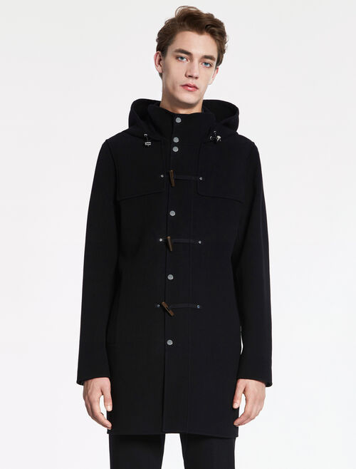 CALVIN KLEIN MILITARY WOOL DUFFEL COAT- HAND- STITCH