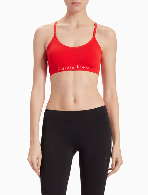 CALVIN KLEIN ADJUSTABLE STRAPS SEAMLESS BRA TOP