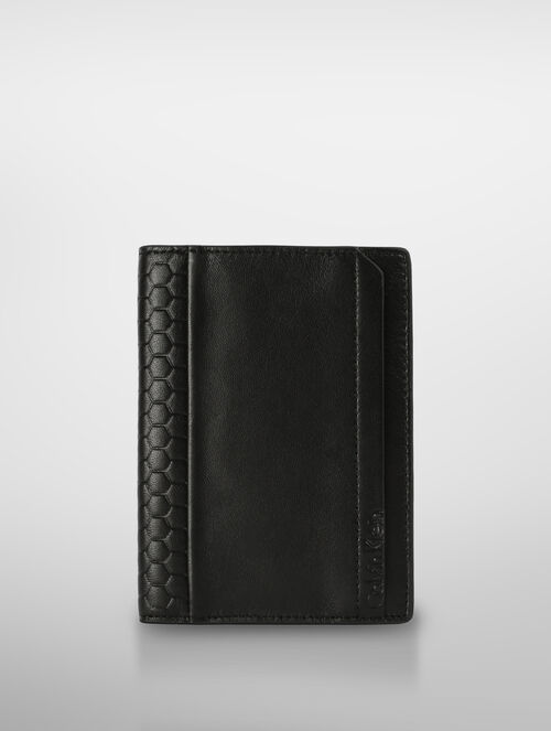 CALVIN KLEIN HONEY COMB PASSPORT CASE