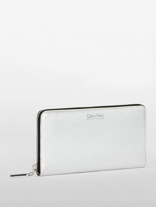 CALVIN KLEIN WOMENS CLASSIC WALLETS CNTNTL ZIPPER WALLET