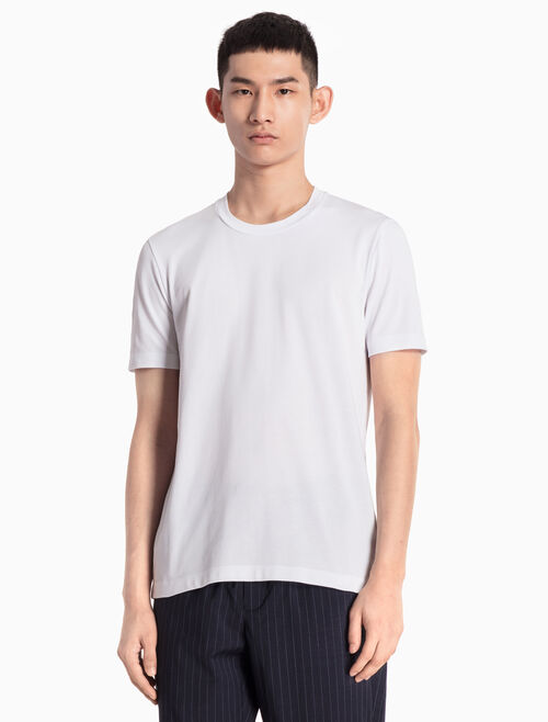 CALVIN KLEIN KNITTED TEE WITH PATTERNED LOGO