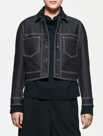 CALVIN KLEIN BONDED DENIM JACKET