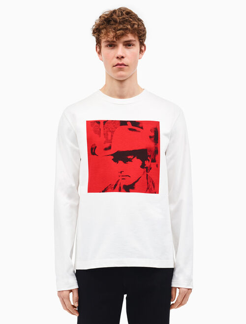 CALVIN KLEIN dennis hopper long sleeve t-shirt