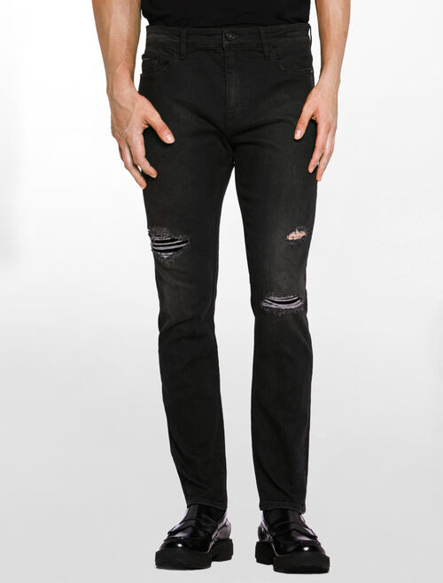 CALVIN KLEIN ODION BLACK SELVEDGE JEANS