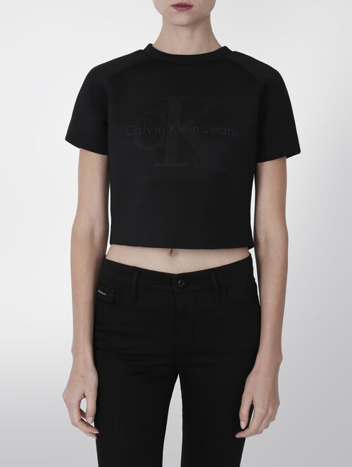 CALVIN KLEIN NEOPRENE FITTED TEE