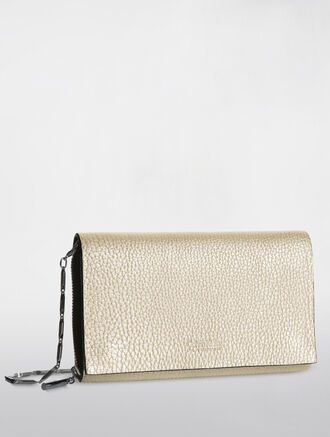 CALVIN KLEIN PLATINUM METALLIC CHAIN WALLET