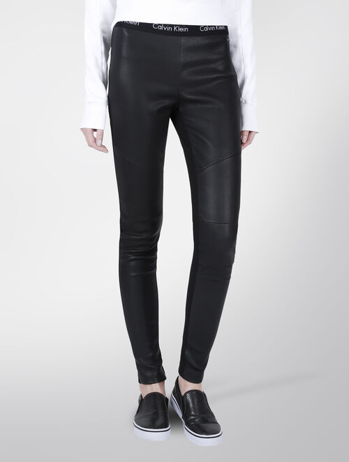 CALVIN KLEIN GAIA LEATHER LEGGING