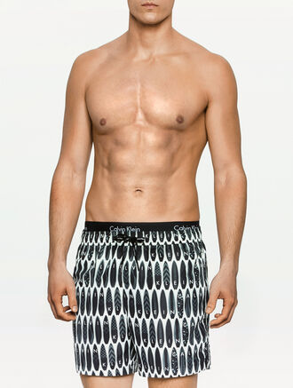CALVIN KLEIN CORE NOVELTY DOUBLE WAISTBAND SWIM SHORTS