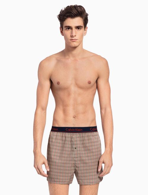 CALVIN KLEIN 平織四角褲(合身版型)