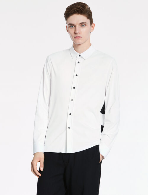 CALVIN KLEIN COMPACT INTERLOCK WITH HIGH TWIST COTTON Long Sleeves SHIRT