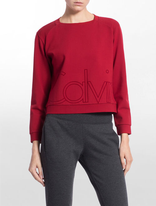 CALVIN KLEIN SWEAT PULLOVER WITH CALVIN LOGO