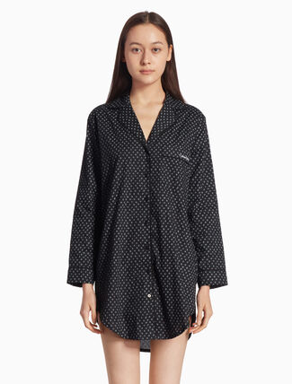 CALVIN KLEIN PATTERN NIGHT SHIRT