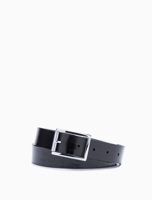 CALVIN KLEIN ELONGATED ROLLER BUCKLE BELT