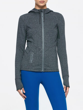 CALVIN KLEIN HOODED SWEAT JACKET