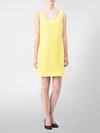 CALVIN KLEIN BONDED MODERN STRETCH BASIC DRESS - FULLY LINED