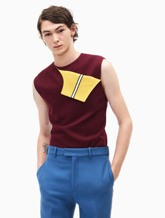 CALVIN KLEIN sleeveless marching band uniform top
