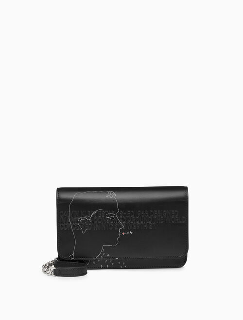 CALVIN KLEIN MINI CROSSBODY X ANDY WARHOL IN CALF LEATHER